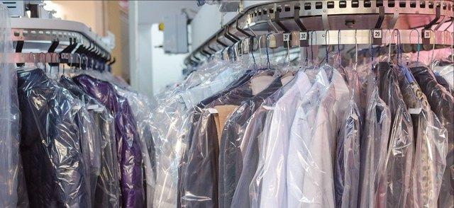 dry cleaned garmets